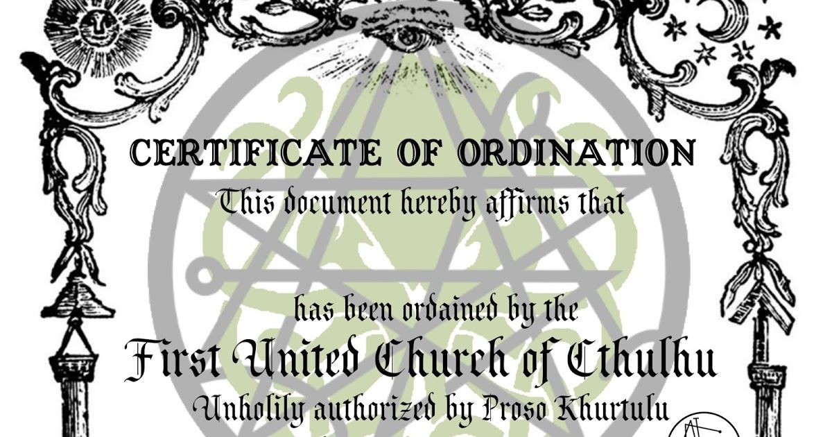 Certificate of Ordination Ordination, How to The
