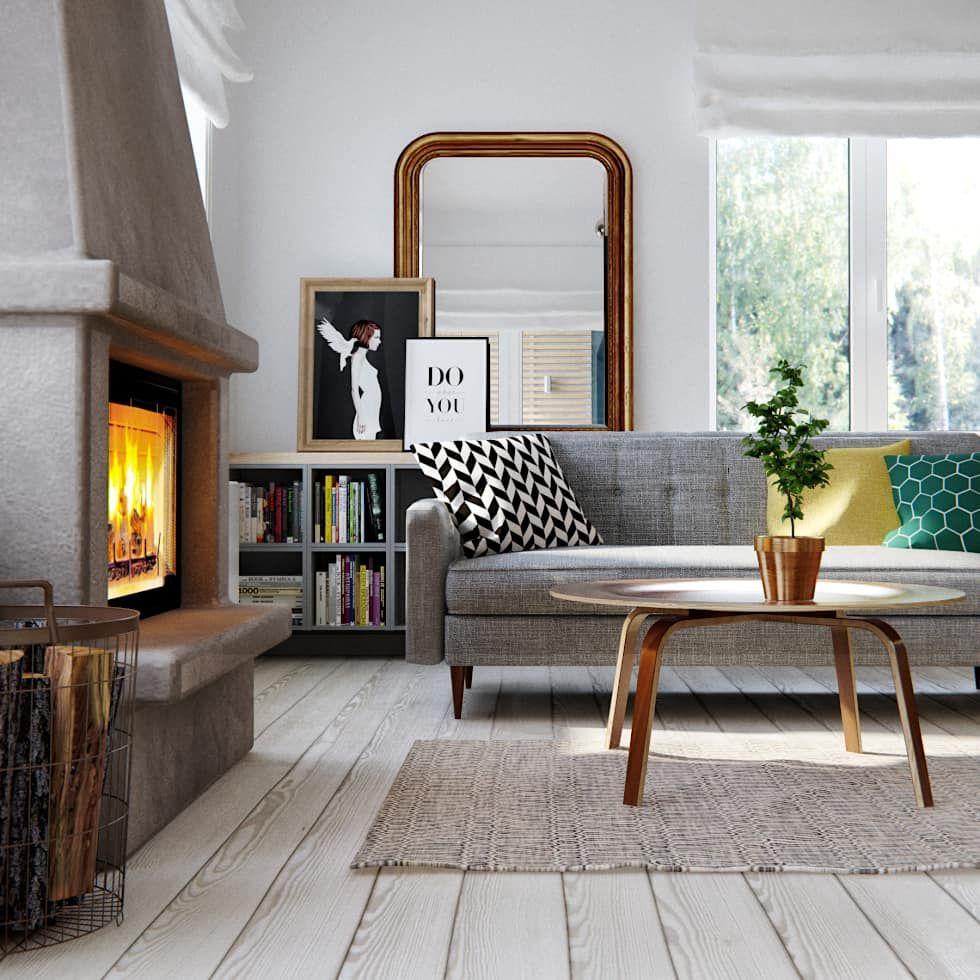 Photos de salon de style de style scandinave par int2architecture ...
