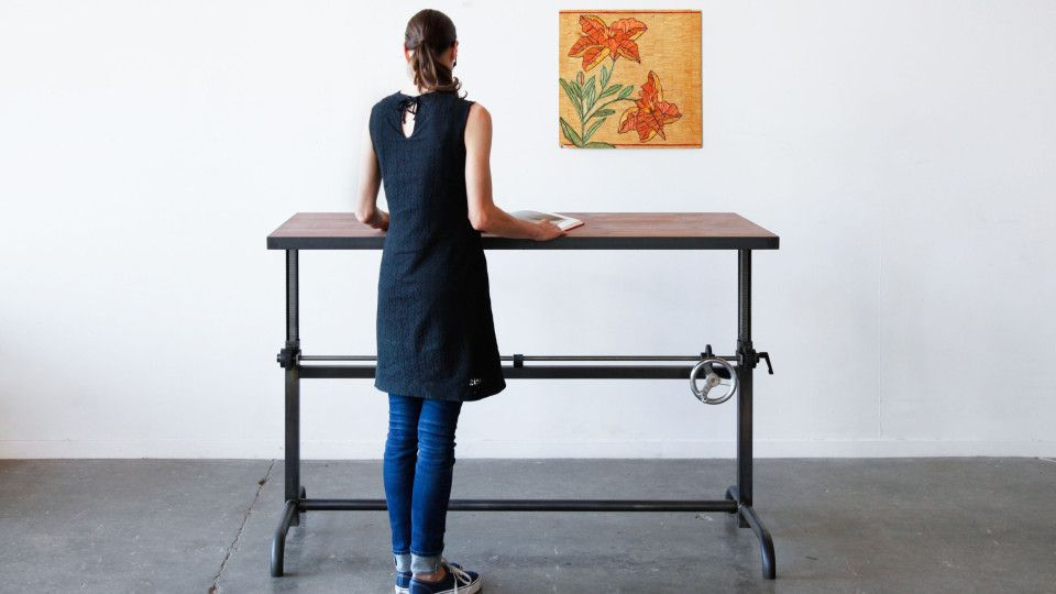 How To Stylishly Design A Standing Desk Into Your Home Office - Standing height work table