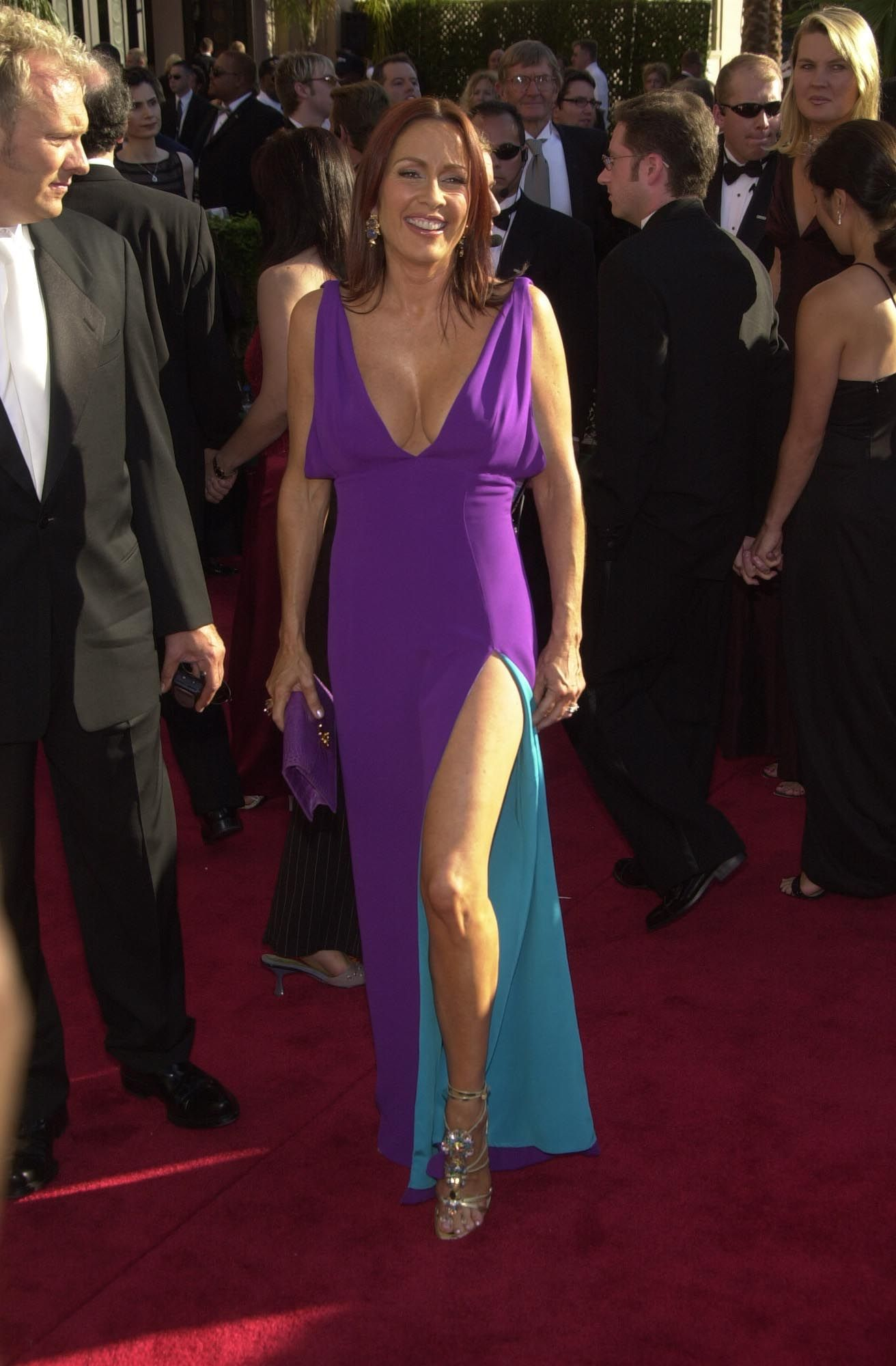 patricia heaton - purple dress, but some different poses
