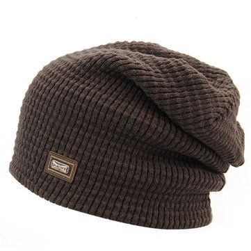 a1beae352d4479 High-quality Men Women Knitted Skiing Beanie Skull Cap Winter Warm Beanies  Solid Color Hat - NewChic Mobile.