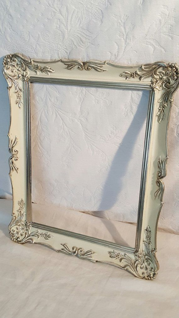 Empty Gallery Frame, White Orante Metal Empty Picture Frame, Gallery ...