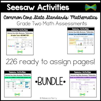 Photo of Seesaw Activities CCSS Grade Two Math Bundle Online Learning