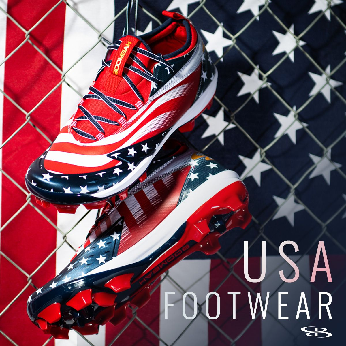 Usa Footwear Starting At 49 99 Boombah Sports Footwear Shoes Cleats Turfs Trail Usa Flag America Freedom Memor Footwear Shoes Hoka Running Shoes