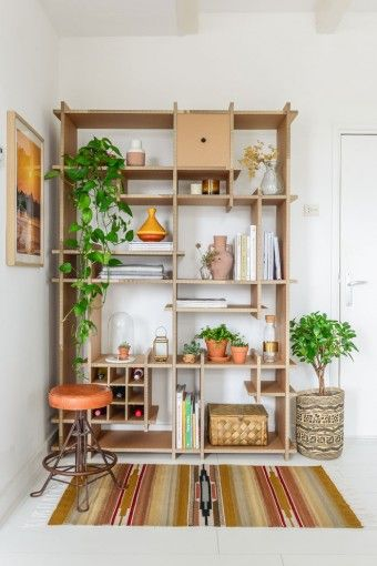 Raw Eco Design - shelves made from recycled cardboard