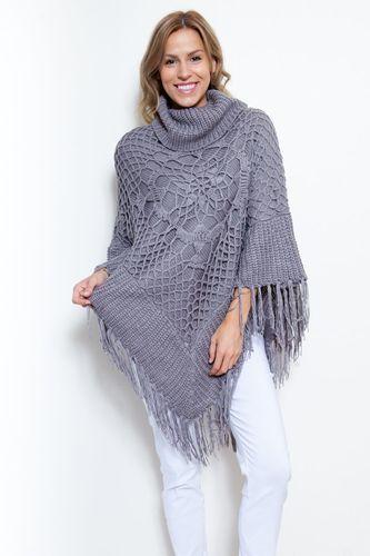 Crochet it Poncho charcoal