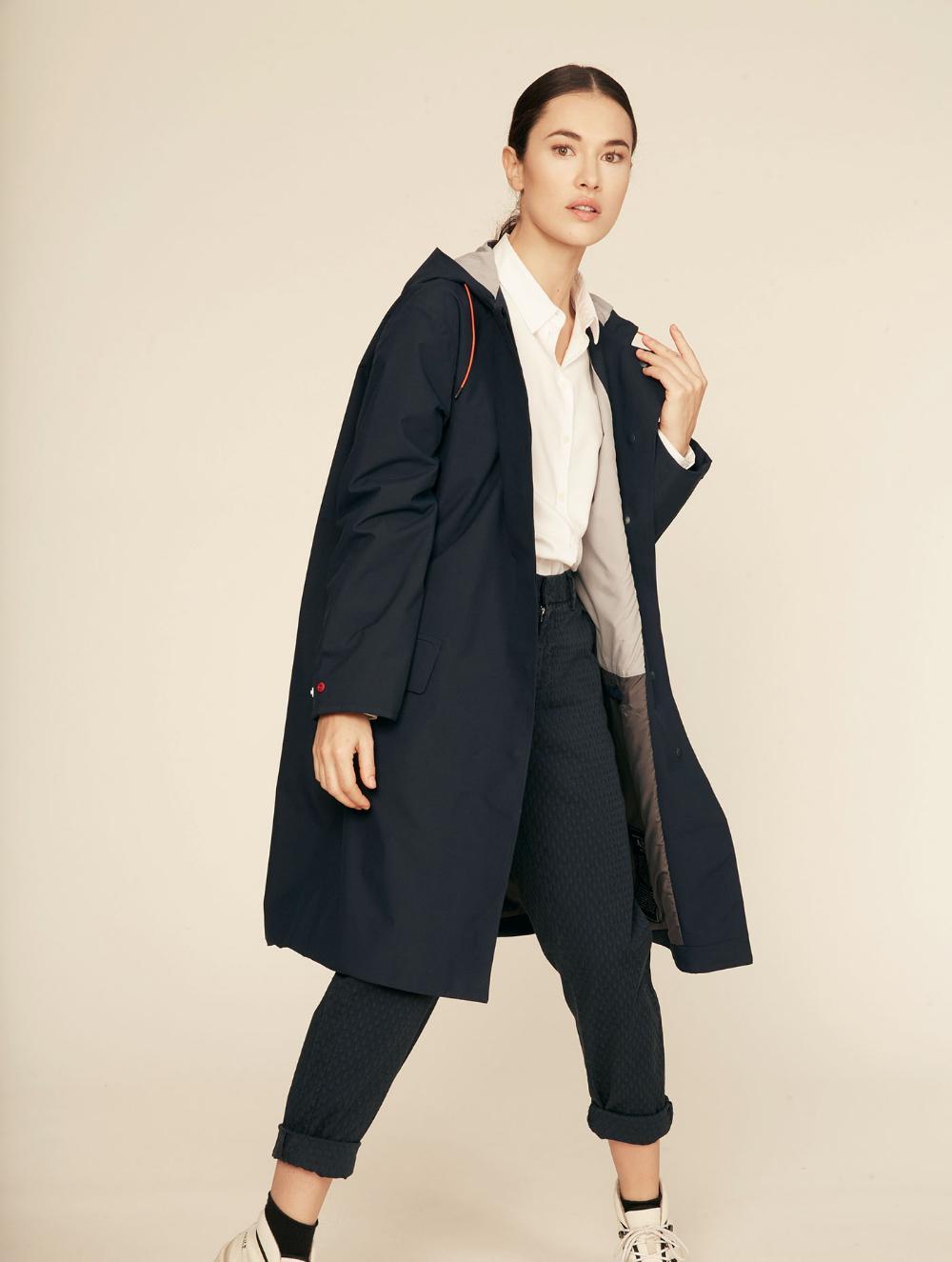 lightweight navy blue waterproof jacket