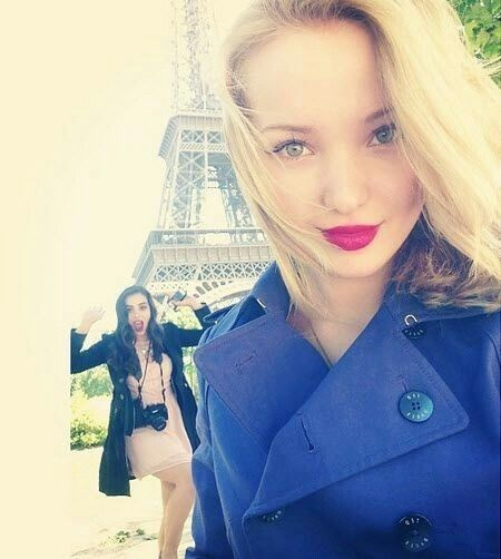 Dove Cameron Diving Instagram Selfie Blue Trench Coat Actresses Getting To Know Snorkeling Dave Cameron