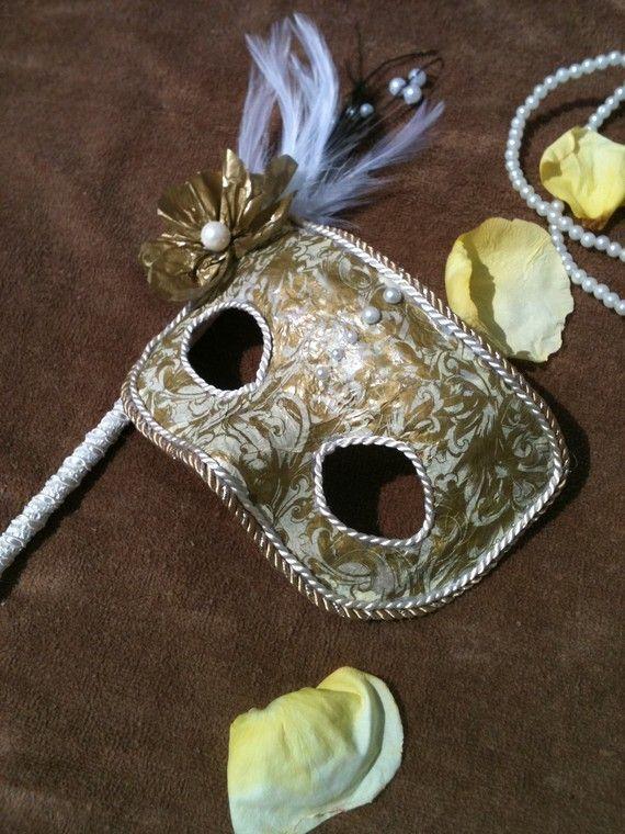 Lady Ophelia / Venetian Style Mask by MaskedEnchantment on Etsy, $39.00