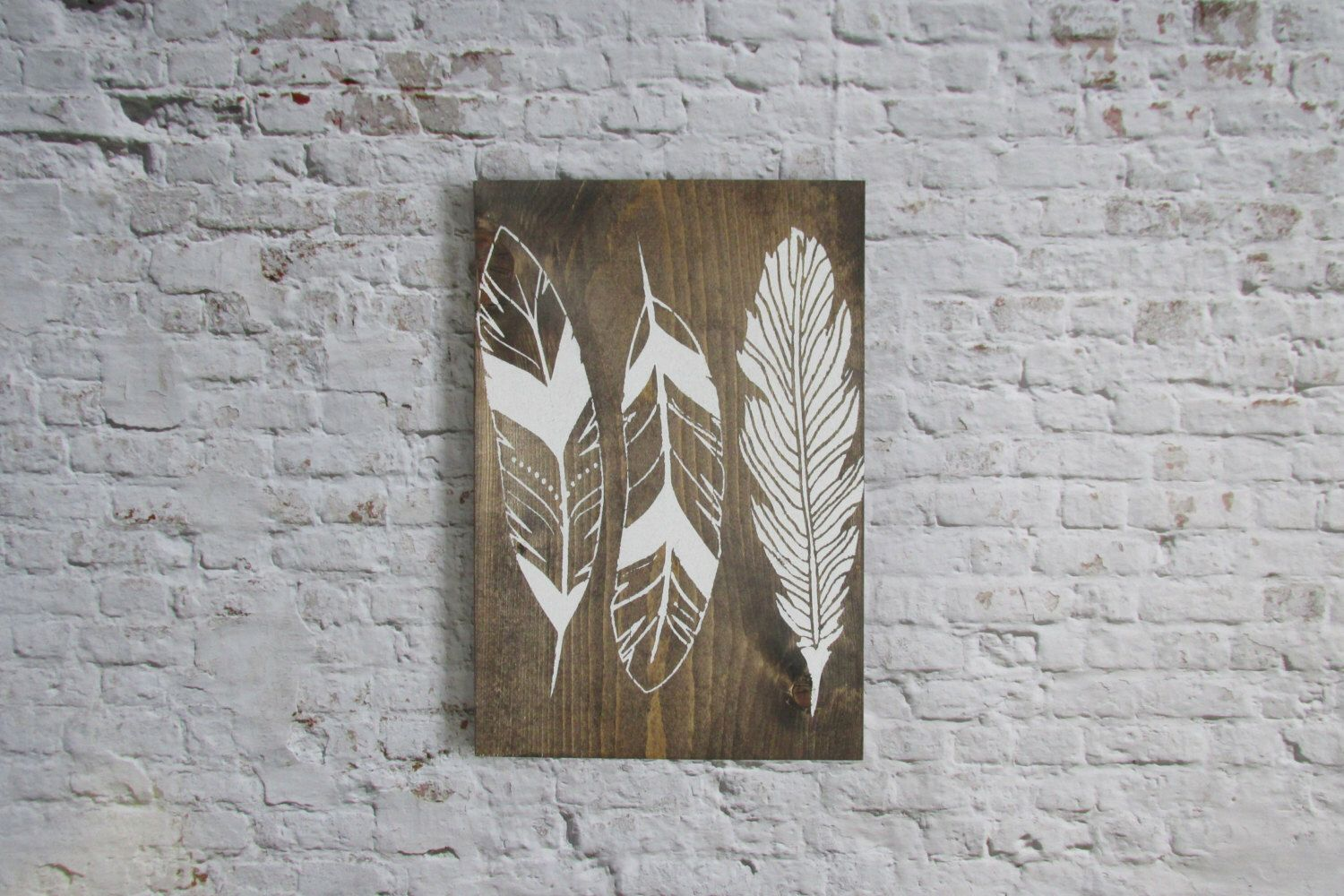 Rustic feather sign wood signs wooden signs rustic decor boho