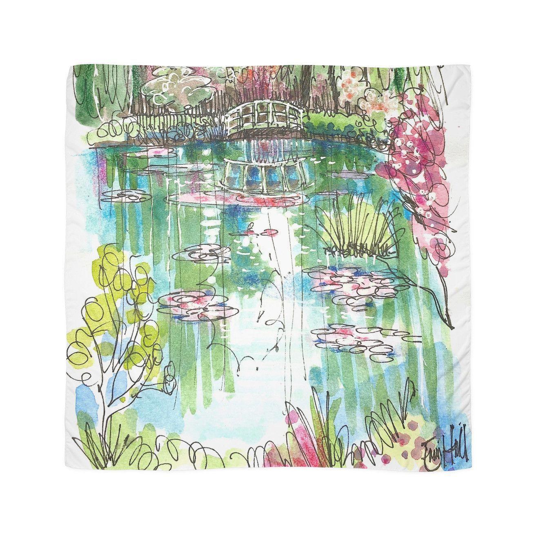 The Japanese Bridge at Monet's garden Scarves