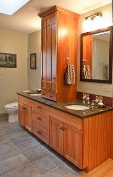 craftsman tile bathroom design ideas, pictures, remodel