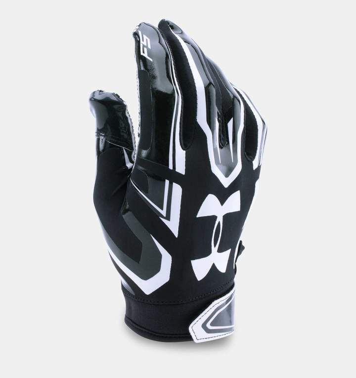 Under Armour Boys UA 2019 F6 Youth Football Receivers Gloves Running Back Gloves