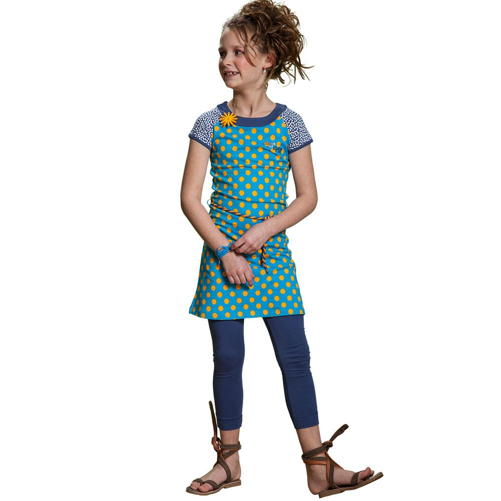 Kerstcollectie Kinderkleding.Chaos And Order Jurk Bx75 S14 Fem Blue Olliewood Online