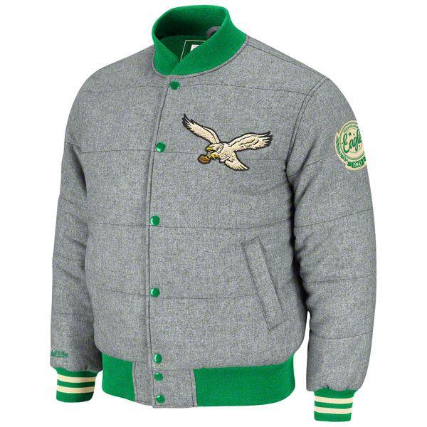 Official NFL Eagles Quilted League Champions Vintage Jacket d4045e8da538