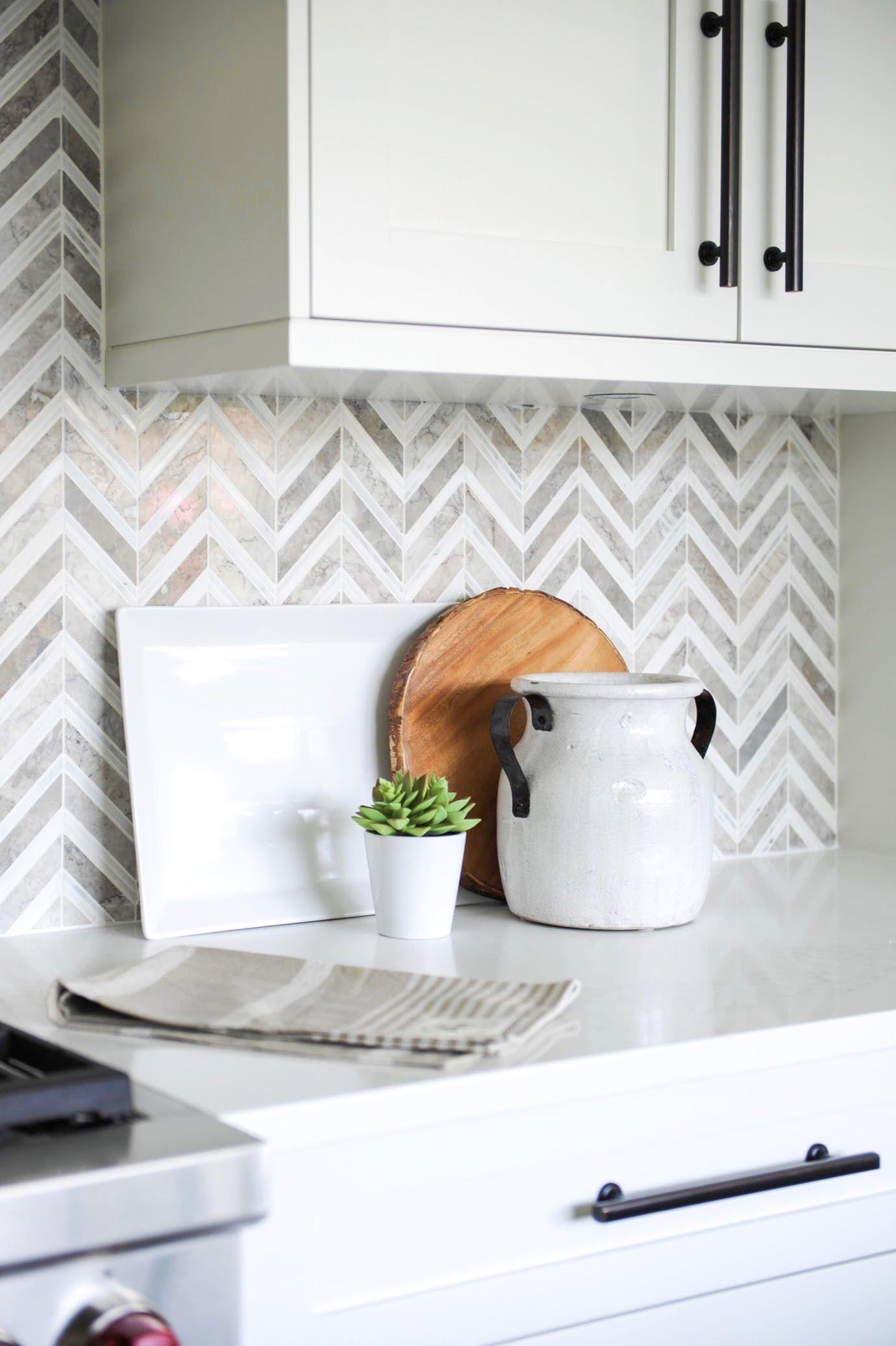 Modern Kitchen With Herringbone Backsplash Kitchen Contemporary Eclectic By Enviable Desi Herringbone Backsplash Kitchen Modern Kitchen Contemporary Kitchen