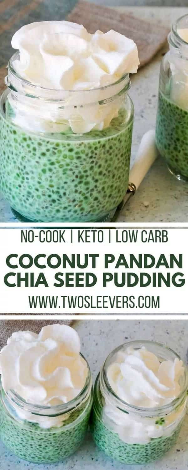 Coconut Pandan Chia Seed Pudding | An easy no-cook recipe!