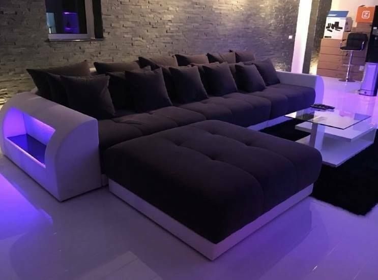 Sectional leather sofa Houston L Shape in 2019 | Big sofas ...