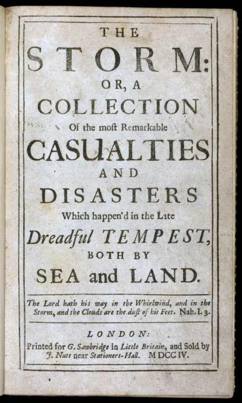 The Storm by Daniel Defoe, cover page
