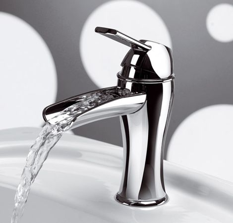 Transitional Style Waterfall Faucet From Frisone New Karisma Bathroom Faucets Master Bath