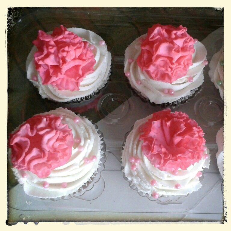 Cupcakes con claveles