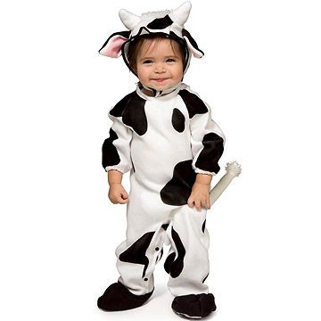Suit your milk lover up in this sweet cow costume. Plus the costume is a soft onesie making it just as comfortable as pajamas!  sc 1 st  Pinterest & Best Store-Bought Halloween Costumes for Babies and Toddlers | Cow ...