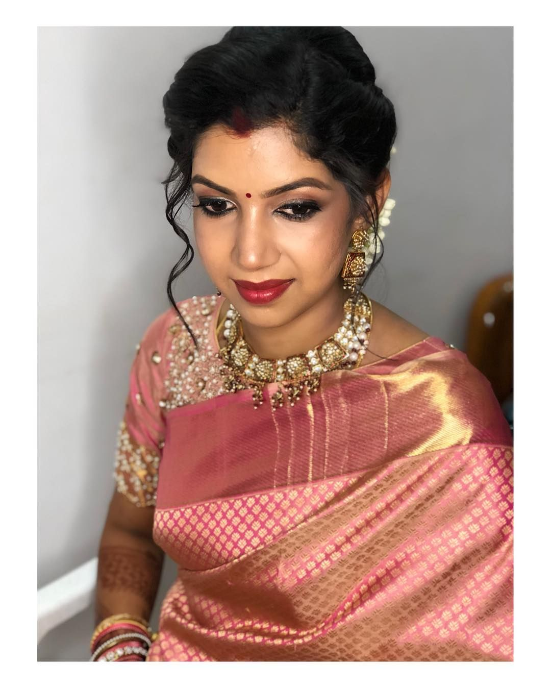 Image may contain 1 person closeup indian wedding