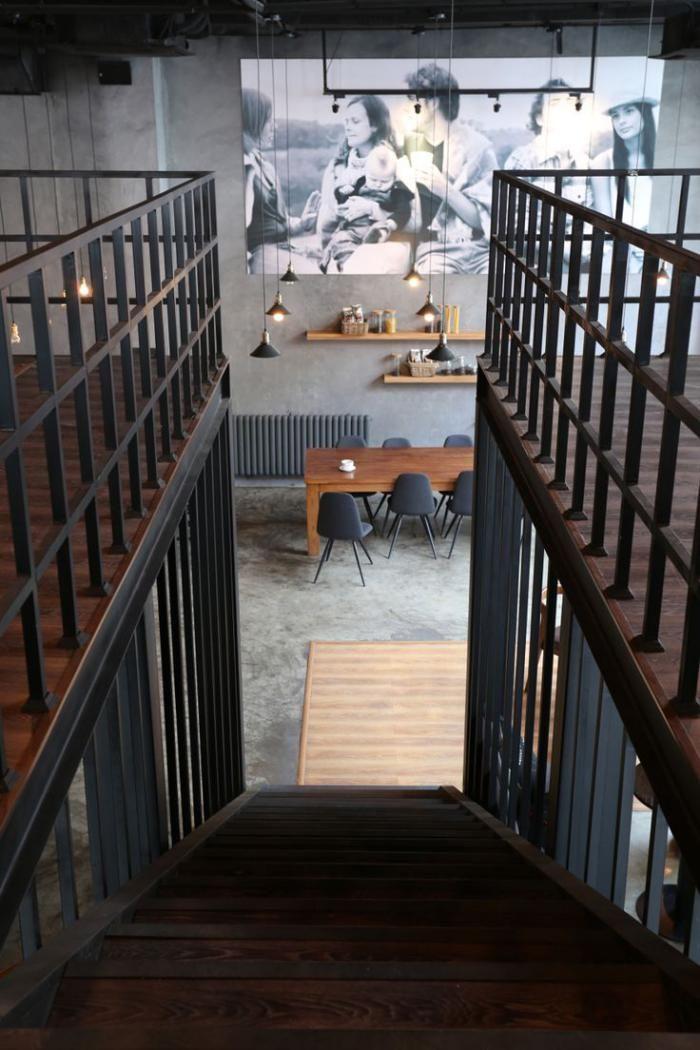 Interieur Loft Industriel le garde corps mezzanine - jolies idées pour lofts avec mezzanine