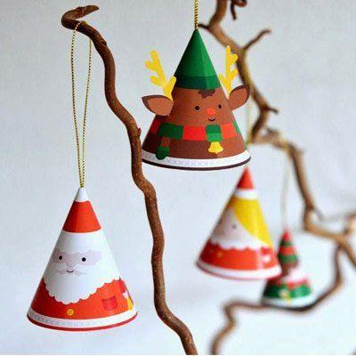 Adornos para el rbol de navidad con papel plantillas - Adornos navidenos de papel ...