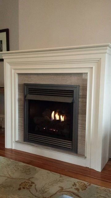 Vent Free Gas Fireplace and Custom Surround and Mantle by