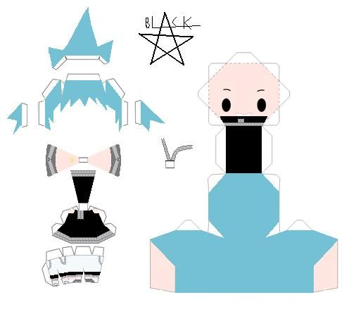 Black Star Template By AnimegangDeviantartCom  Paper Craft