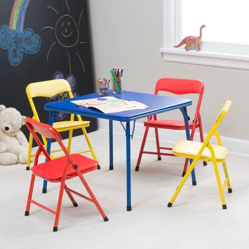 Childrens Folding Table And Chair Set