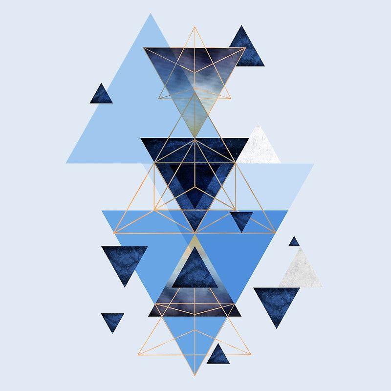 Design Geometric Triangle Blue Wallpaper Iphone Geometric Wallpaper
