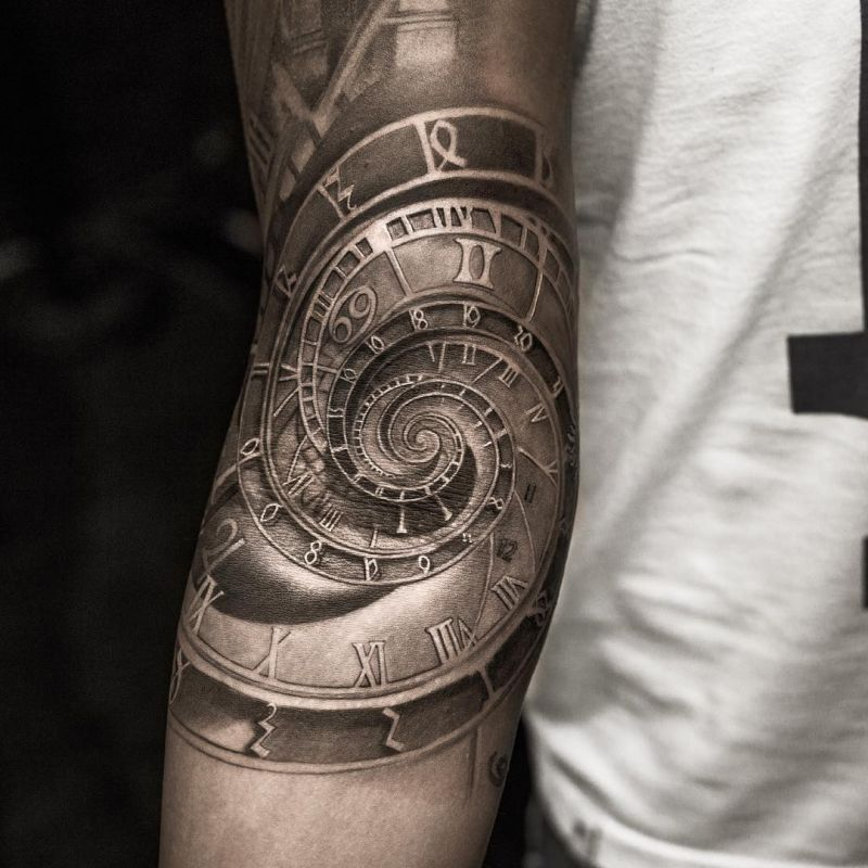 Astronomical Clock Tattoo: Niki Norberg, The Master Of Hyperrealistic Tattoos
