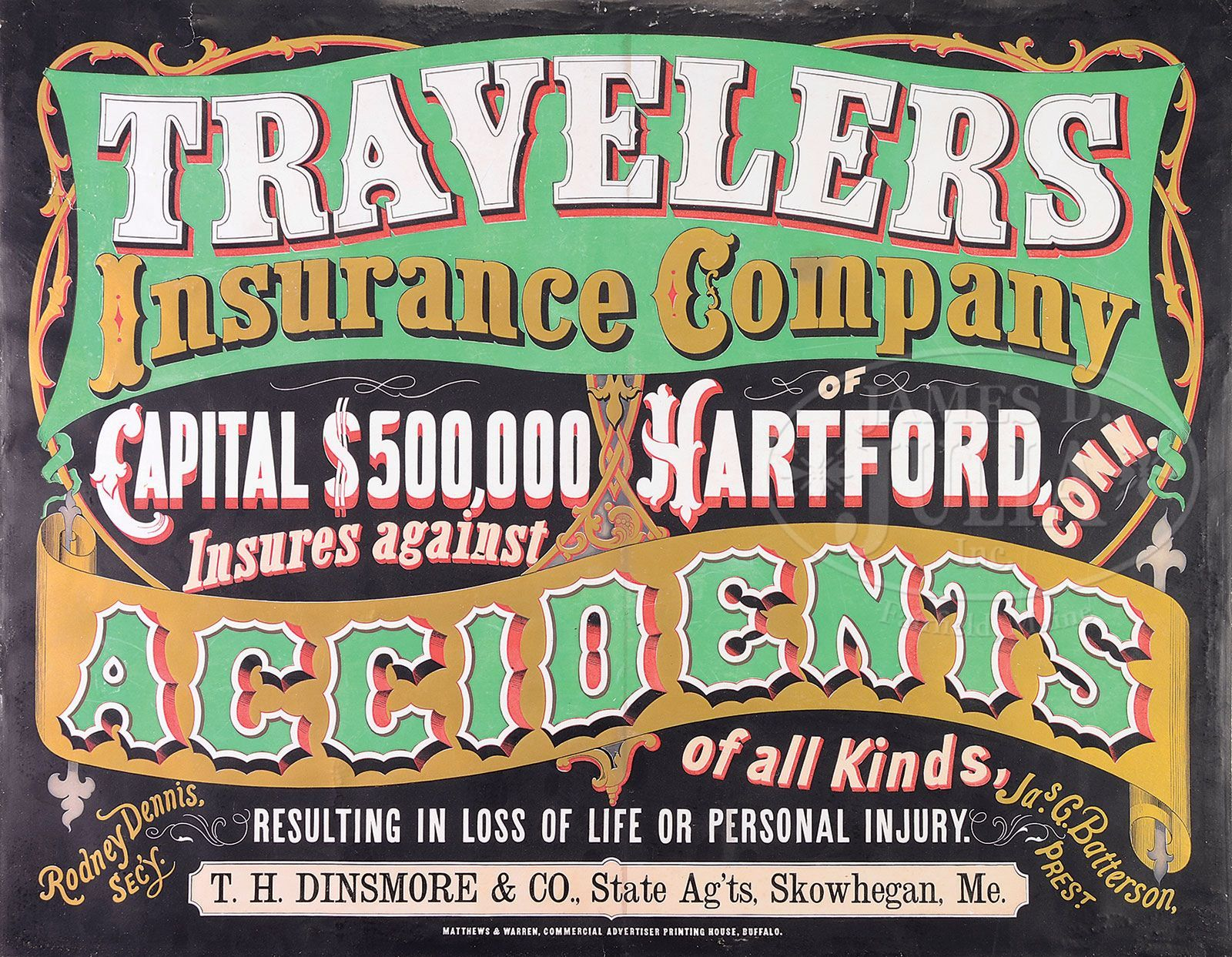 Early travelers insurance company sign personal