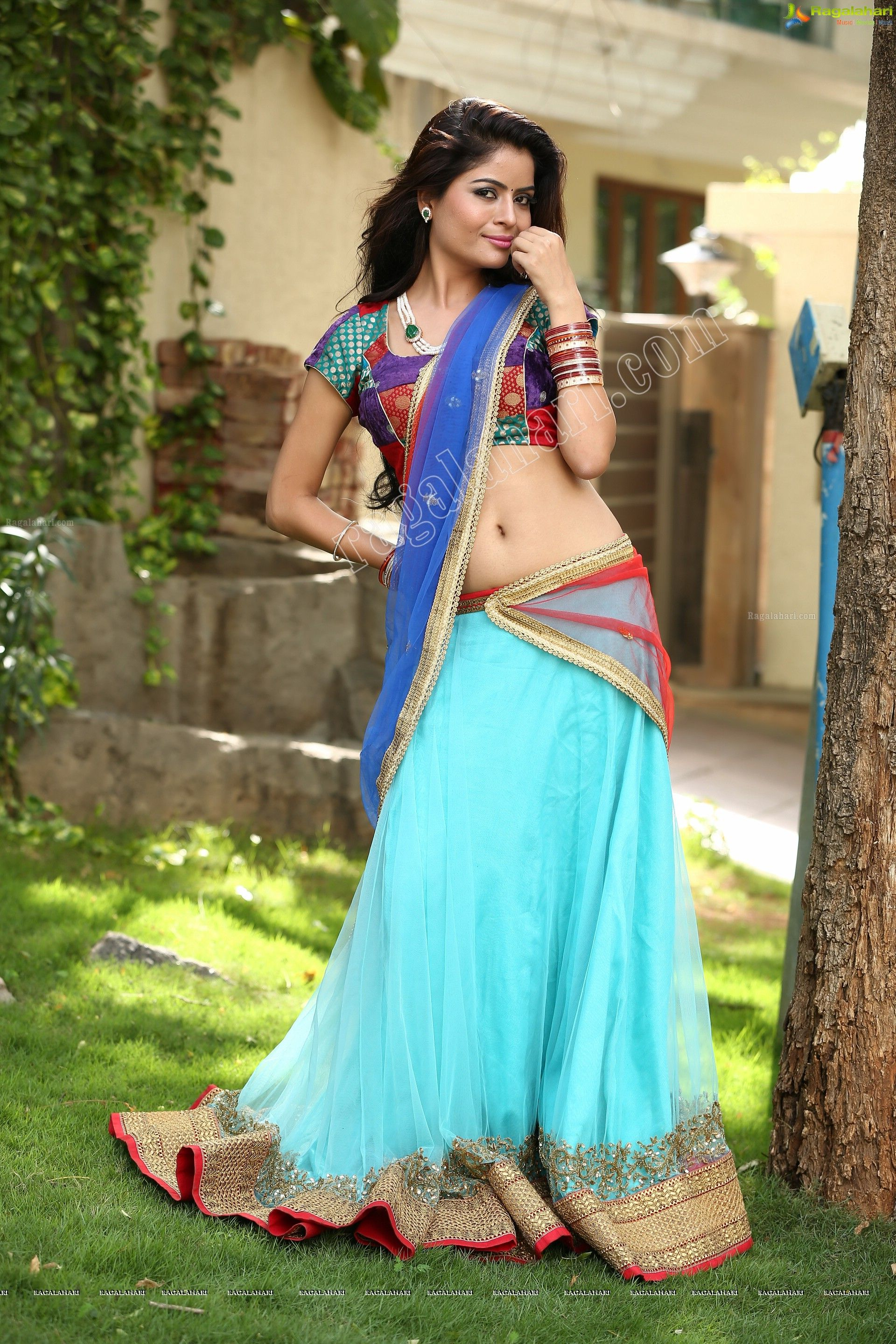 Gehana Vasisth In Half Saree High Definition Saree Half Saree Indian Girls