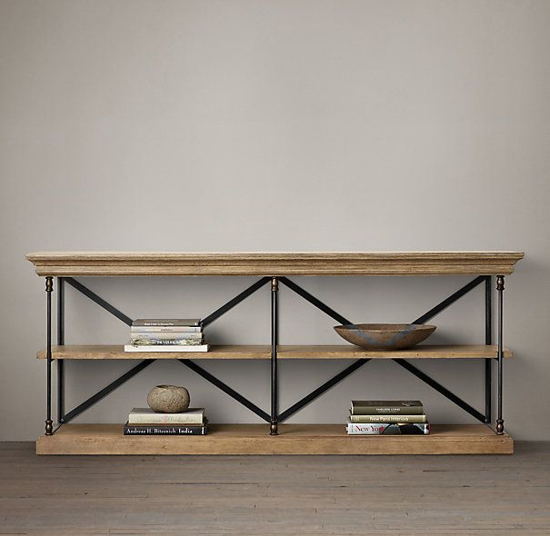 Parisian Cornice Console   Industrial   Side Tables And Accent Tables   Restoration  Hardware