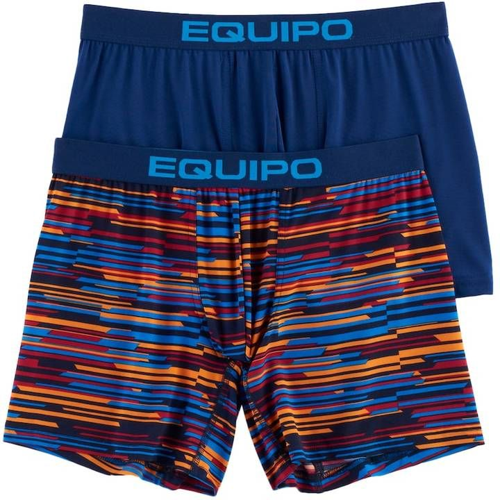 3f199dde4a83 equipo Men's equipo 2-pack Striped Microfiber Stretch Performance Boxer  Briefs