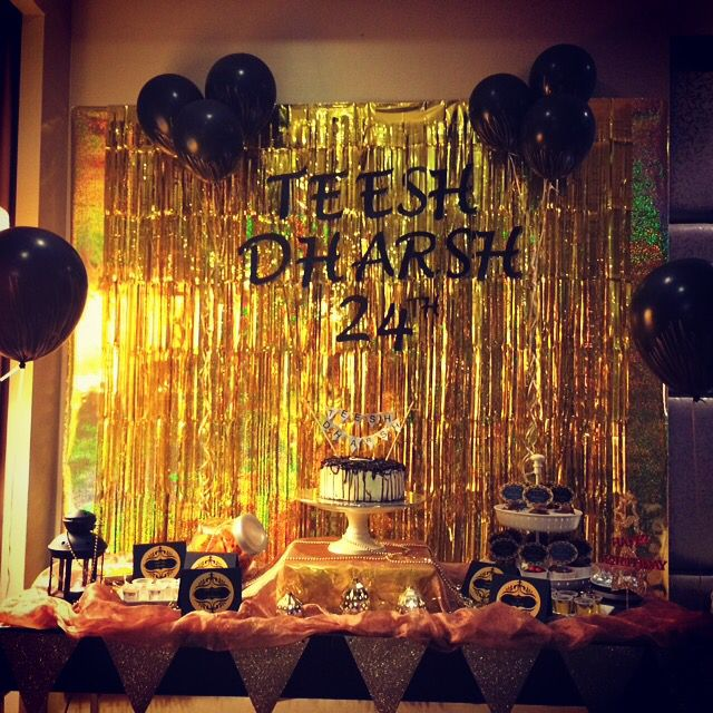 Black,gold And White Themed Party