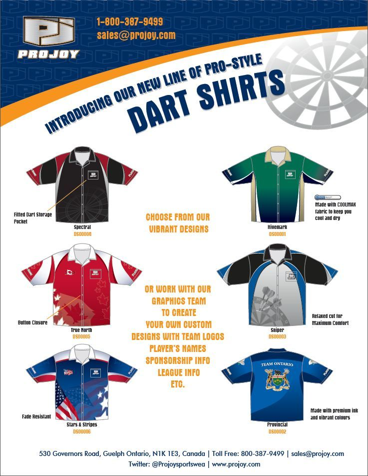 3331be042f1 Please contact sales@projoy.com for pricing and details on creating your  own custom dart/bowling/billiards shirts today!