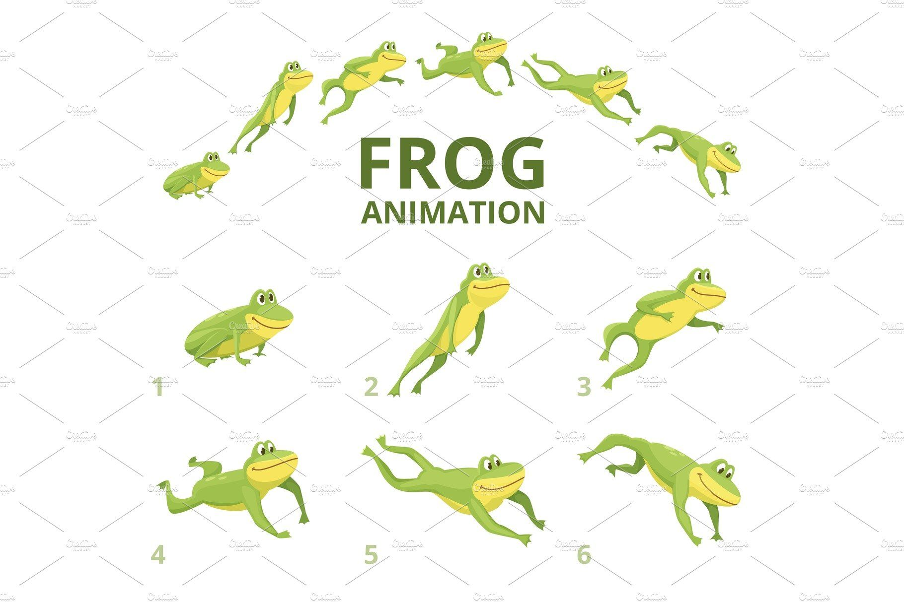 Frog Jumping Animation Various By Onyx On Creativemarket