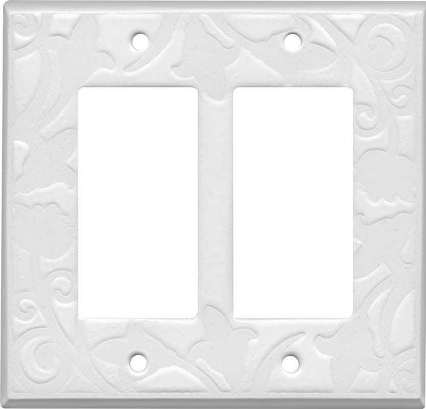 White White Ceramic Light Switch Plates Outlet Covers Decora