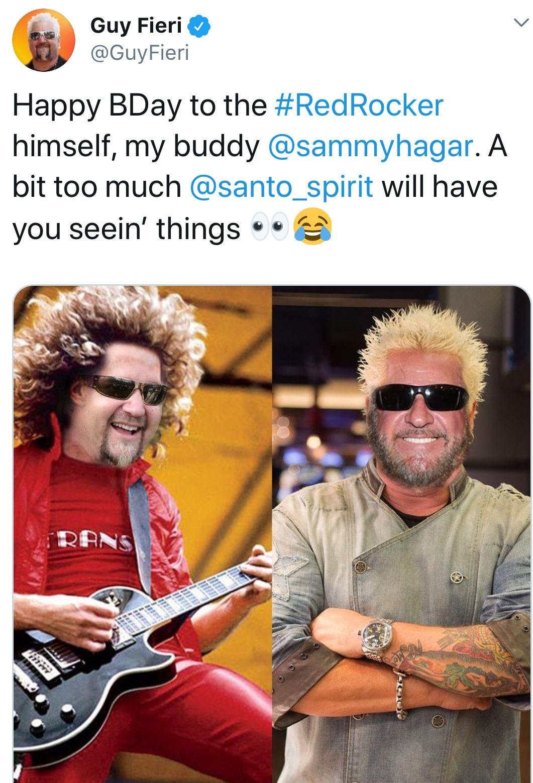 Pin By Shari On Sammy Hagar Van Hagar Guy Fieri Red Rocker My Buddy