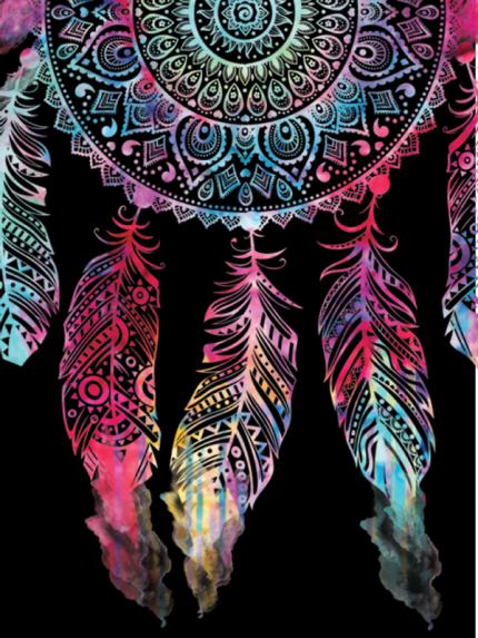 Inspired Cases Dark Watercolor Dreamcatcher Spiritual Native