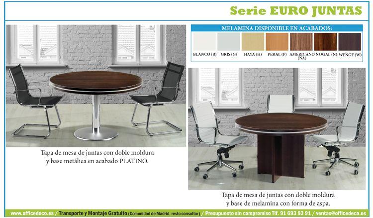 mesas de juntas para oficinas serie Euro Juntas.   mesas de ...