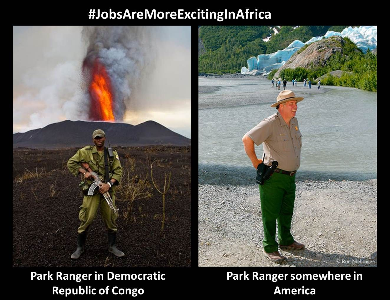Even the park rangers in Congo are badass. Funny
