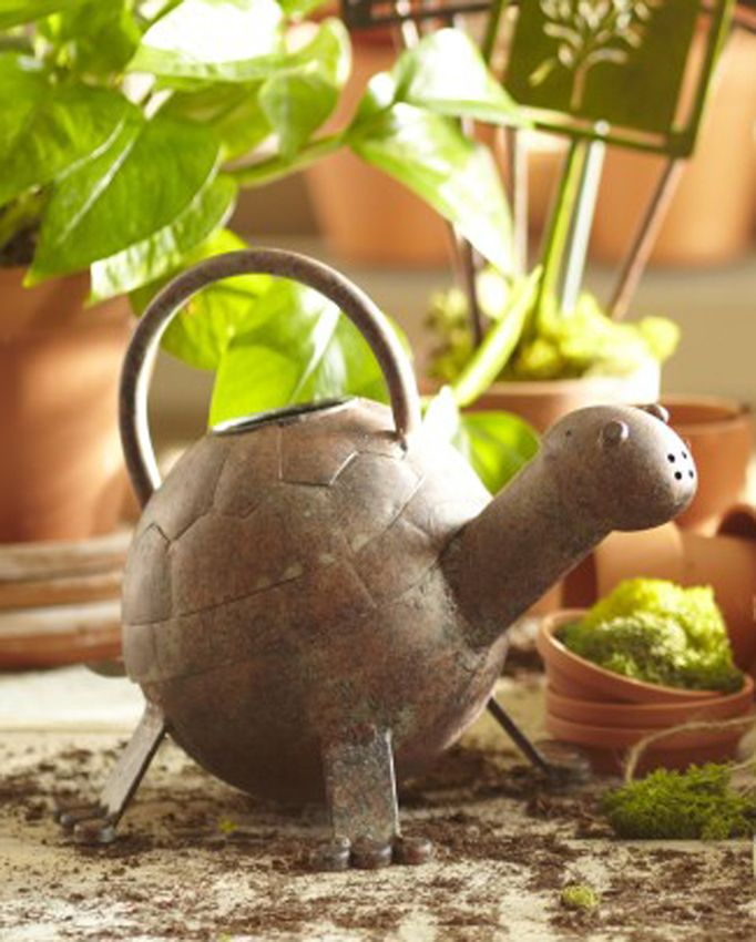 POTBELLY PIG METAL WATERING CAN WATERING CANS GARDEN DECOR