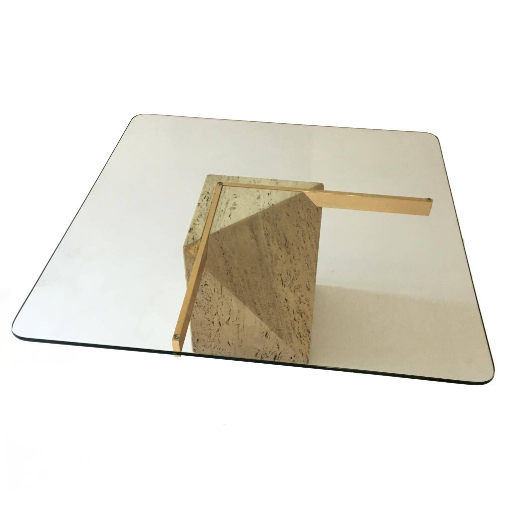 Travertine Marble Coffee Table By Artedi Marble Coffee Table Coffee Table Travertine