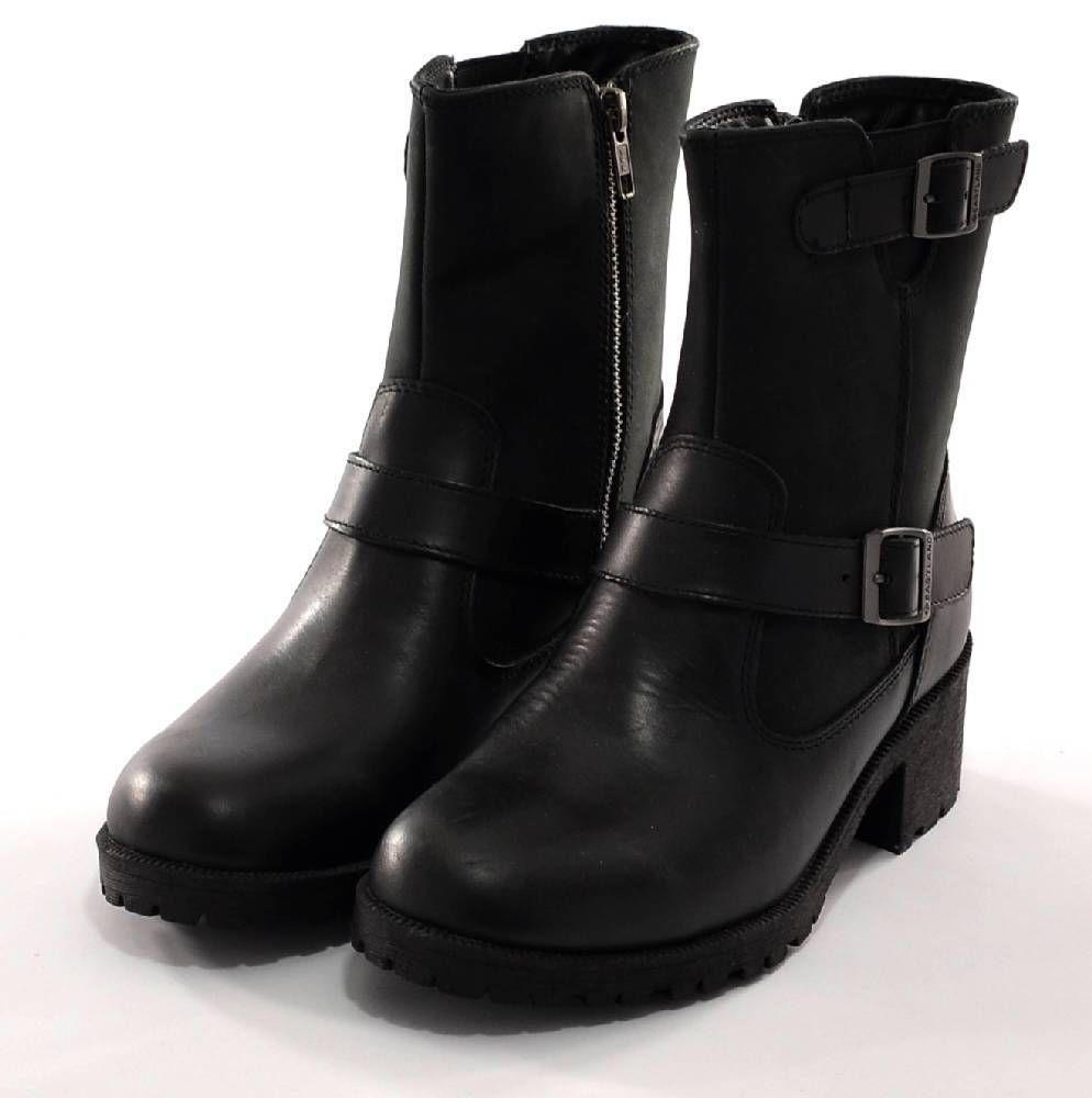 Donna Stivali Nero Size 7 Pelle By Eastland Belmont Slip On Ankle