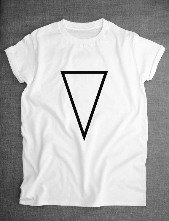 bc2b8a9fe Geometric Shape T-Shirt - Upside Down Triangle Print Hipster Shirt ...